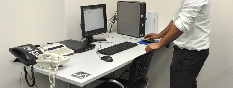 Accessible workstation and equipment.